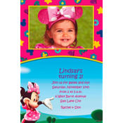 Minnie's Clubhouse Custom Photo Invitation