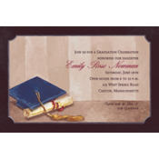 Framed Cap and Diploma Custom Graduation Invitation