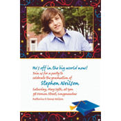 Grad Celebration Custom Photo Invitation