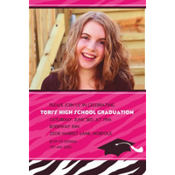 Zebra Party Custom Photo Invitation