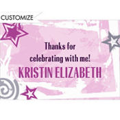 Pink Class Year with Stars Custom Thank You Notes