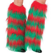 Adult Fuzzy Elf Leg Warmers