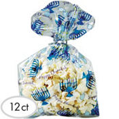 Hanukkah Party Bags 9 1/2in x 5in 12ct