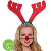 Light Up Reindeer Dress Up Kit 2pc