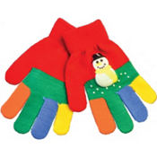 Red Snowman Gloves