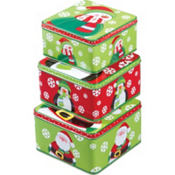 Winter Square Tin Set 3pc