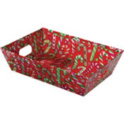 Medium Candy Cane Gift Tray 10in