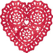 Glitter Plastic Heart Decoration 11in