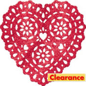 Glitter Lace Hanging Heart Decoration
