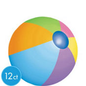 Beach Ball Cutouts 8in 12ct