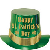 Glitter St. Patricks Day Top Hat