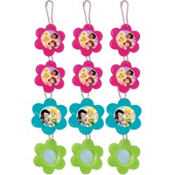 Tinker Bell Flower Mirror Key Chains 12ct