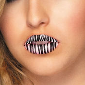 Zebra Lip Tattoos