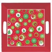 Square Christmas Icon Plastic Tray