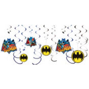 Batman Swirl Decorations 12ct