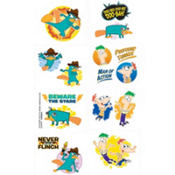 Phineas and Ferb Tattoos 8ct