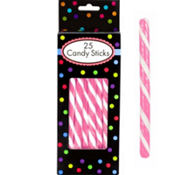 Bright Pink Candy Sticks 12.5oz