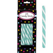Robin's Egg Blue Candy Sticks 25pc