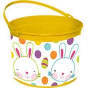 Plastic Yellow Easter Bucket