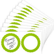 Kiwi Green Favor Sticker Labels 20ct