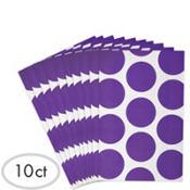 Purple Dot Paper Favor Bags 10ct