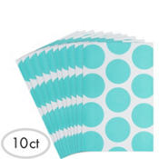 Robin Egg Blue Dot Paper Favor Bags 10ct