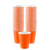 Orange Paper Coffee Cups 40ct