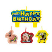 SpongeBob Birthday Candles 4ct.
