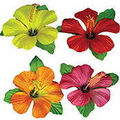 Hibiscus Flower Table Cover Clips 4ct