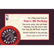 Toronto Raptors Custom Invitation