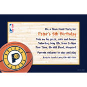 Indiana Pacers Custom Invitation