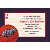 New Orleans Hornets Custom Invitation