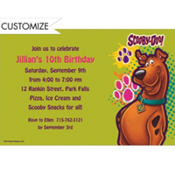 Scooby Doo Custom Invitation