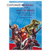 Avengers Custom Invitation