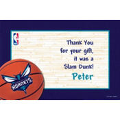 Charlotte Bobcats Custom Thank You Note
