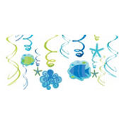 Cool Sea Swirl Decorations 12ct