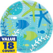 Cool Sea Lunch Plates 18ct