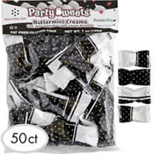 Black Polka Dots Pillow Mints 50ct