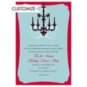 Christmas Chandelier Custom Invitation