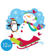 Joyful Snowman Cutout 8in 12ct