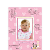 Minnie Mouse 1st Birthday Autograph Photo Mat