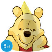 Winnie the Pooh Party Hats 8ct