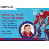Transformers Prime Custom Photo Invitation