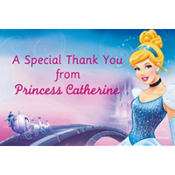 Cinderella Custom Thank You Note