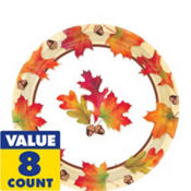 Autumn Day Dessert Plates 8ct