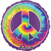 Foil Feeling Groovy Peace Balloon 31in