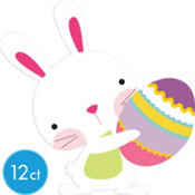 Easter Bunny with Egg Cutout 8in 12ct