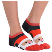 Smiling Santa Ankle Socks
