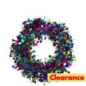 Tinsel Jewel Tone Wreath
