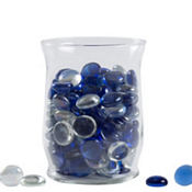 Clear and Cobalt Gem Scatter 18oz